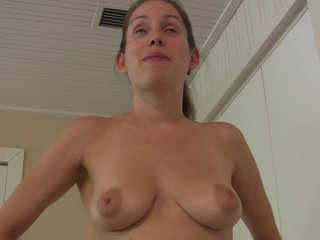 Femdom Pov Handjob video: She teases and strokes him to cum before the timer runs out