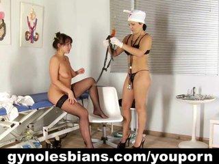 Lesbian doctor seducing her patient