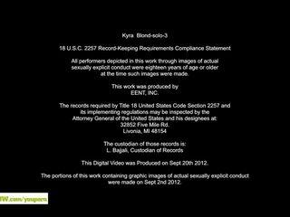 Fingering Pussy Trimmed Pussy Older Masturbation video: Horny Cougar Kyra Blond Fingers Twat