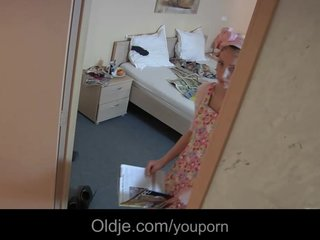 Skinny Maid Slut video: Perv old geezer fucks young hotel maid