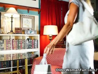 Mature Pantyhose Mature Stocking Mature Tights video: Mature mom can't resist her pantyhose fetish