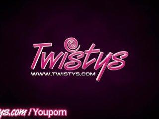 Teen Blonde Solo Girl video: Twistys - Sexy blondes masturbate