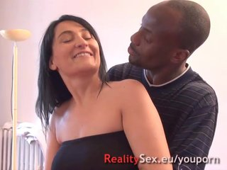 French Voyeur Teen video: Stella with 3 strangers! Big boops french amateur