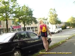 Anal German video: pickup on the street