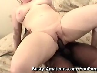 Tits Boobs Chubby video: Busty amateur Fiona fucking black dick