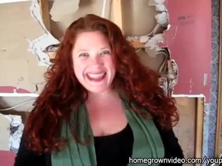 Blowjob Big Tits Redhead video: Housewife Has first Gloryhole Experience