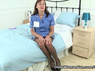 British Mature British Milf English Granny video: British granny fulfills her secret fantasy